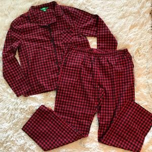 Dip black/red checkered pajamas
